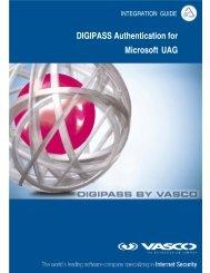 DIGIPASS Authentication for Microsoft UAG - Vasco