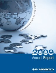 Annual Report 2009 (1 MB, pdf) - Vasco