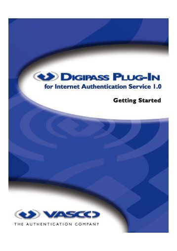 Digipass Plug-In for IAS Getting Started - Vasco