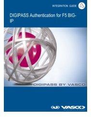 DIGIPASS Authentication for F5 BIG- IP - Vasco