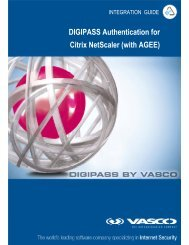 DIGIPASS Authentication for Citrix NetScaler (with AGEE) - Vasco