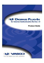 Digipass Plug-In for IAS Product Guide - Vasco