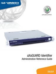 aXsGUARD Identifier Administration Reference Guide - Vasco