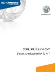 aXsGUARD Gatekeeper System Administration How To - Vasco