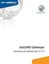 aXsGUARD Gatekeeper Command Line Interface How To v16 - Vasco