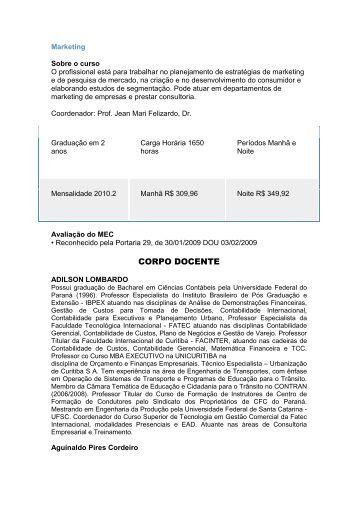 CORPO DOCENTE - Universidade Estácio de Sá