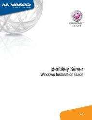 Identikey Server Windows Installation Guide - Vasco