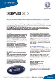 DIGIPASS GO 3 - Vasco