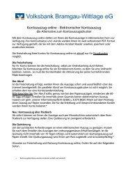 Anleitung Kontoauszug online