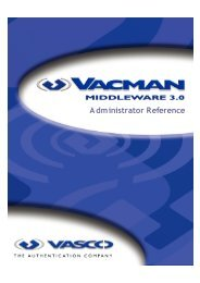 VACMAN Middleware Administration  Reference A4 - Vasco