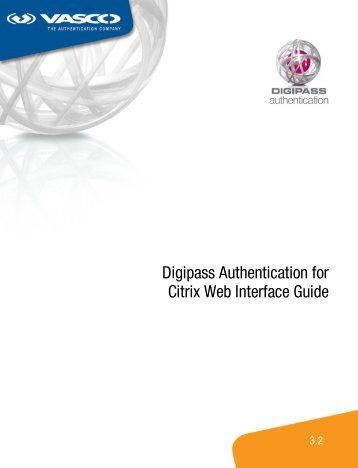 Digipass Authentication for Citrix Web Interface Guide - Vasco