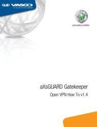 aXsGUARD Gatekeeper Open VPN How To v1.4 - Vasco