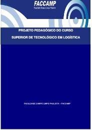 PROJETO PEDAGÓGICO DO CURSO SUPERIOR DE ... - Faccamp
