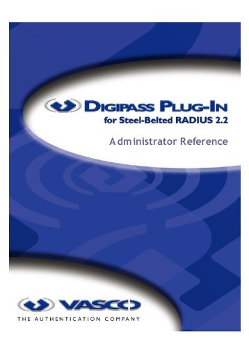 Digipass Plug-In for SBR Administrator Reference - Vasco
