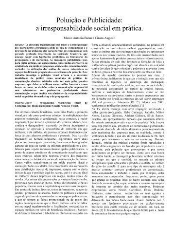 Poluição e Publicidade A Irresponsabilidade Social - clapublic.com.br