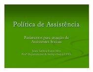Pol í tica de Assistência - Conselho Regional de Serviço Social