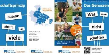 Download Flyer (PDF) - Volksbank Bad Saulgau eG