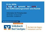 Fit für SEPA (Single Euro Payments Area – SEPA) Der EURO ...