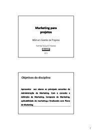 Apostila Marketing para Projetos - Especial – Negócios do bem