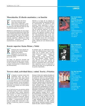 Libros - Federación Española de Medicina del Deporte