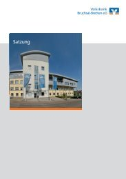 Satzung - Volksbank Bruchsal-Bretten eG
