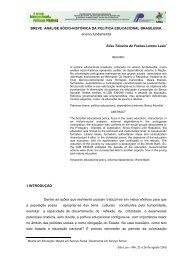 Breve análise sócio-histórica da política educacional brasileira