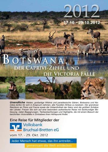 finden Sie den kompletten Reiseablauf... - Volksbank Bruchsal ...