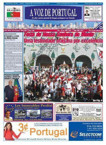 Festa de Nossa Senhora do Monte Festa de ... - A Voz de Portugal