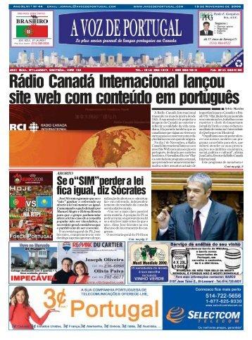 Rádio Canadá Internacional lançou site web ... - A Voz de Portugal