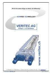 VERIFIED TECHNOLOGY - VERITEC AG, Anlagen