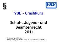 Crashkurs Schul-, Jugend- Und Beamtenrecht 2011 - VBE Baden ...