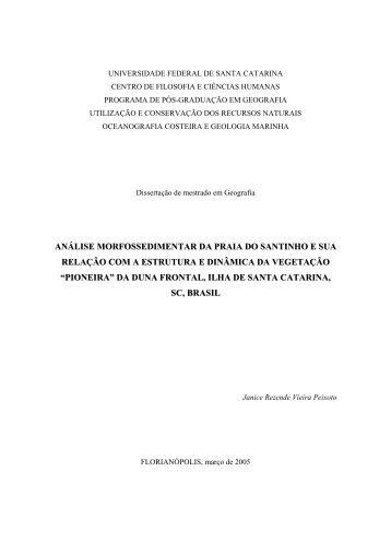 análise morfossedimentar da praia do santinho e sua ... - CNCFlora