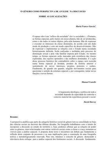 O GÊNERO COMO PERSPECTIVA DE ANÁLISE NA ... - Unesp