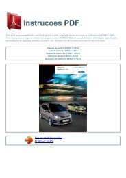 Manual do usuário FORD C-MAX - INSTRUCOES PDF