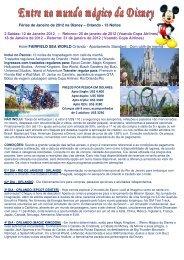 Roteiro Disney Janeiro 2012 colorido.pdf - JM Viajens e Turismo