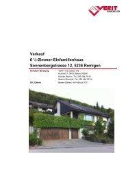 Verkauf 6 ½-Zimmer-Einfamilienhaus ... - VERIT Immobilien
