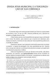 dívida ativa municipal ea terceiriza- ção de sua cobrança - Câmara ...