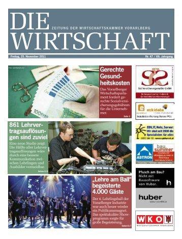 Die Wirtschaft Nr. 47 vom 25. November 2011