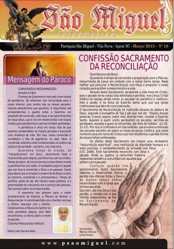 informativo paroquial - Paróquia São Miguel