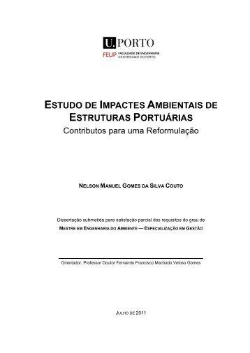 estudo de impactes ambientais de estruturas portuárias