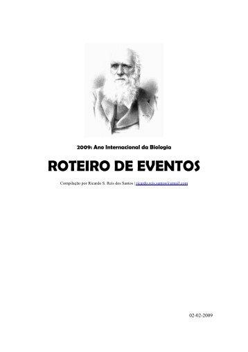 roteiro de eventos - Centro de Filosofia das Ciências - Universidade ...