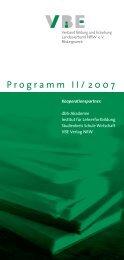 Programm II/2007 - Verband Bildung und Erziehung ...