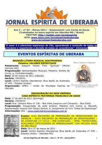Março de 2011 - Jornal Espírita de Uberaba