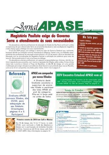 Jornal APASE - Ano XXI n° 195 - Fevereiro de 2010