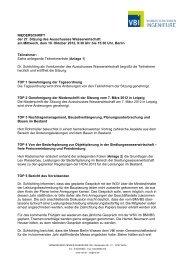 Ausschuss Wasserwirtschaft: Protokoll Herbst 2012