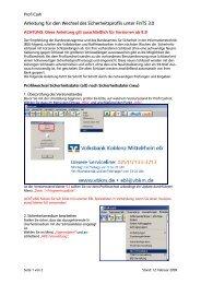 Anleitung zum Profilwechsel ab Profi cash Version 9.3