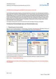 Anleitung Profilwechsel VR-NetWorld-Softfware Version 3.33