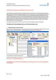 Anleitung Profilwechsel VR-NetWorld-Softfware ab Version 3.34