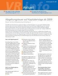 VR-Aktuell: Abgeltungsteuer... - Volksbank Modau eG