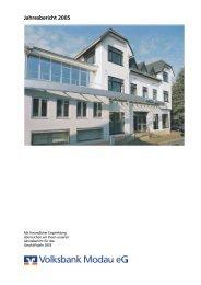 Jahresbericht 2005 - Volksbank Modau eG